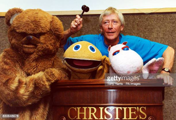 Geoffrey Hayes former presenter of the Children's TV Programme Rainbow with Zippy George and Bungle at Christie's in South Kensington to promote the...