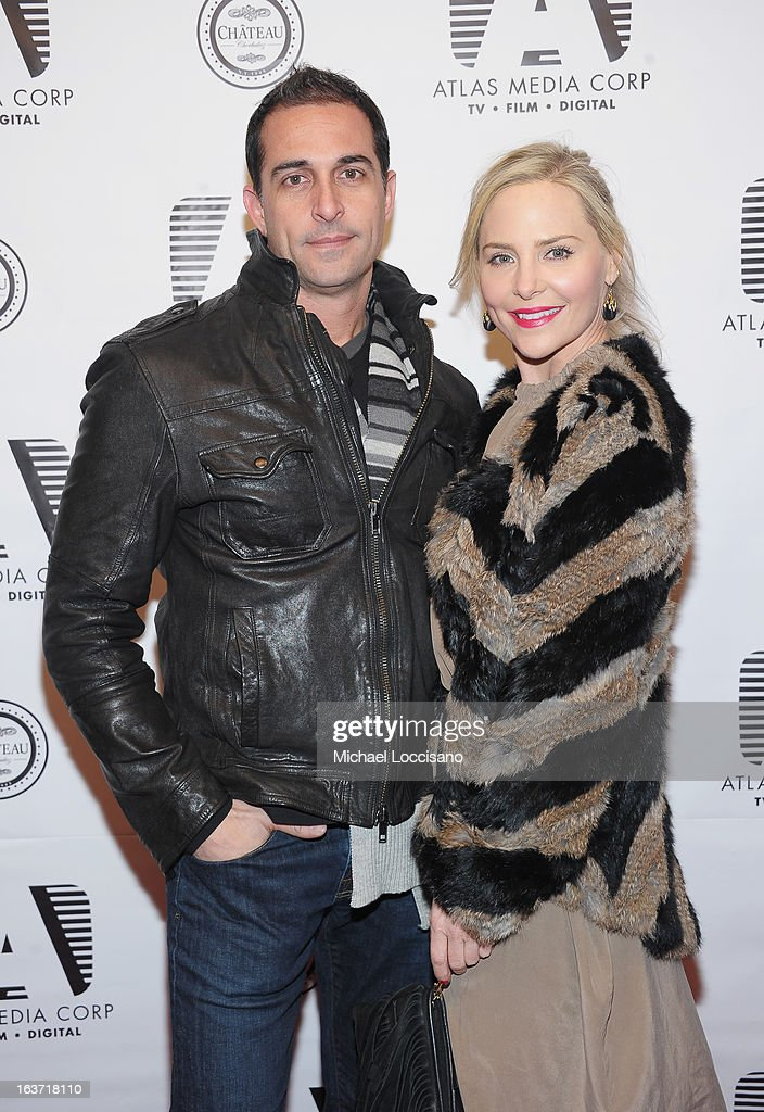 Geoffrey Horn and Carmindy attend the 'Playing With Fire' premiere at Chateau Cherbuliez on March 14, 2013 in New York City.