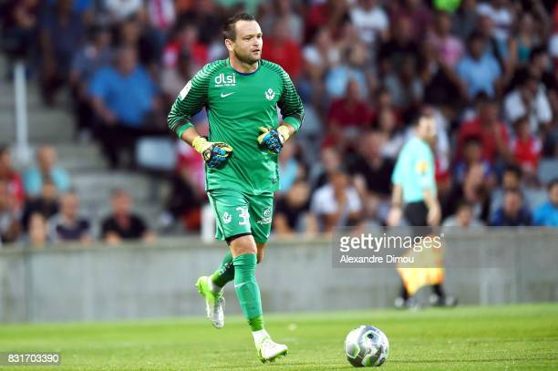 Geoffrey Jourdren of Nancy during the Ligue 2 match between Nimes Olympique and As Nancy Lorraine at Stade des Costieres on August 14 2017 in Nimes