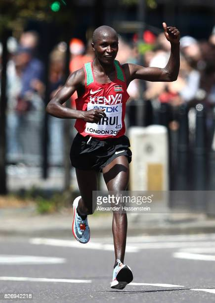 Geoffrey Kipkorir Kirui of Kenya competes in the Men's Marathon during day three of the 16th IAAF World Athletics Championships London 2017 at The...