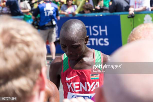 Geoffrey Kipkorir Kirui won IAAF World Championships Man Marathon in London UK on August 6 2017 42 kilometre run took place in most picturesque...