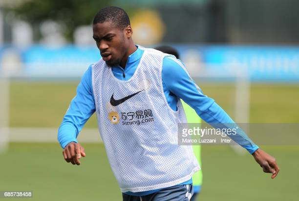 Geoffrey Kondogbia looks on during the FC Internazionale training session at the club's training ground 'La Pinetina' on May 20 2017 in Como Italy