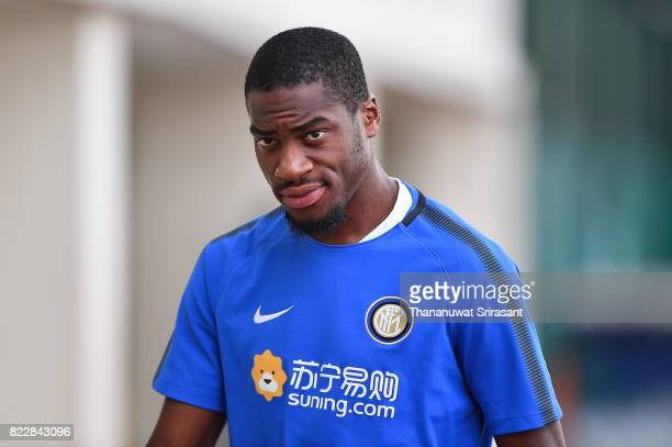 Geoffrey Kondogbia of FC Inter Milan looks during a training session of International Champions Cup training session at Bishan Stadium on July 26...