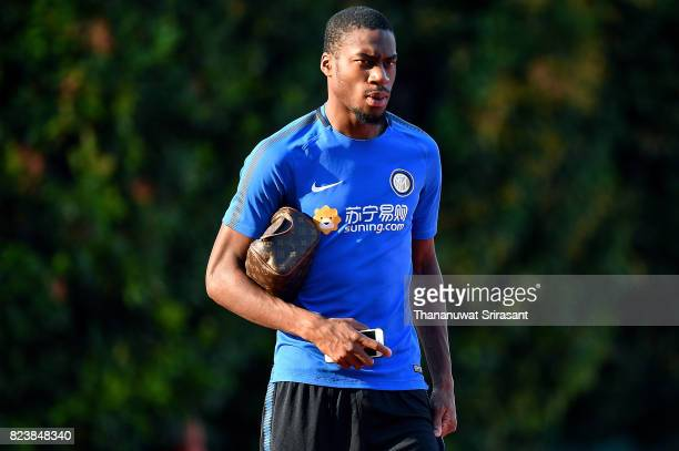 Geoffrey Kondogbia of FC Interernazionale walksduring an official ICC Singapore Training Session at Bishan Stadium on July 28 2017 in Singapore