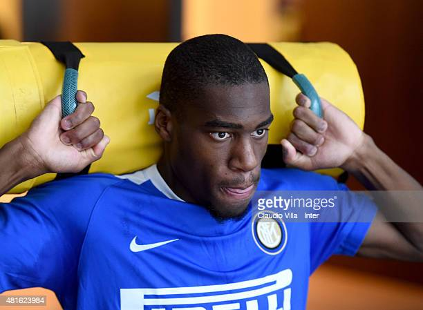 Geoffrey Kondogbia of FC Internazionale in action during a training session on July 23 2015 in Shanghai China