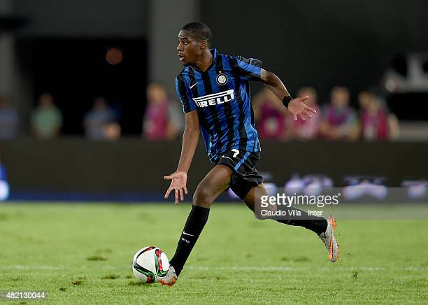 Geoffrey Kondogbia of FC Internazionale in action during the International Champions Cup match between FC Internazionale v Real Madrid on July 27...