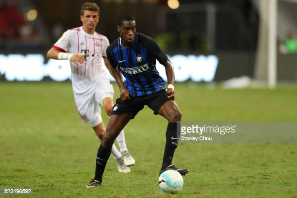 Geoffrey Kondogbia of FC Internazionale in action during the International Champions Cup match between FC Bayern and FC Internazionale at National...