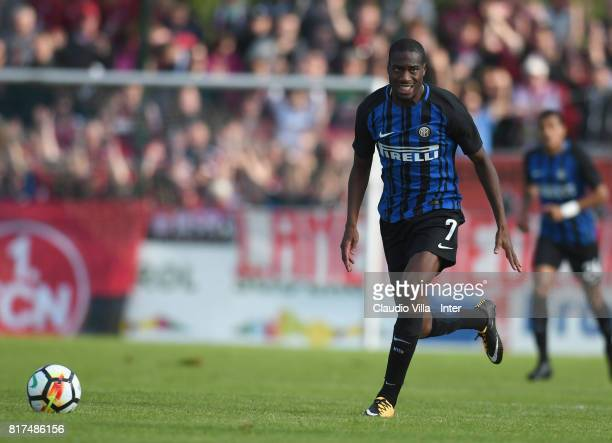 Geoffrey Kondogbia of FC Internazionale in action during the PreSeason Friendly match between FC Internazionale and Nurnberg on July 15 2017 in...