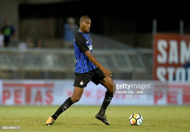 Geoffrey Kondogbia of FC Internazionale in action during the PreSeason Friendly match between FC Internazionale and Villareal CF at Stadio Riviera...