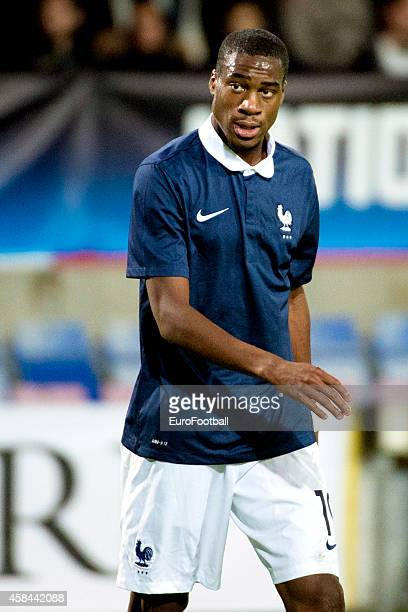 Geoffrey Kondogbia of France in action during the UEFA Under21 Championship qualifying match between Sweden and France in Orjans Vall Stadium on...