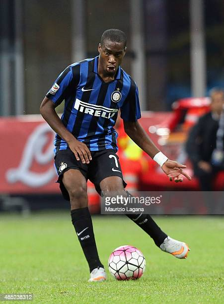 Geoffrey Kondogbia of Inter during the Serie A match between FC Internazionale Milano and Atalanta BC at Stadio Giuseppe Meazza on August 23 2015 in...