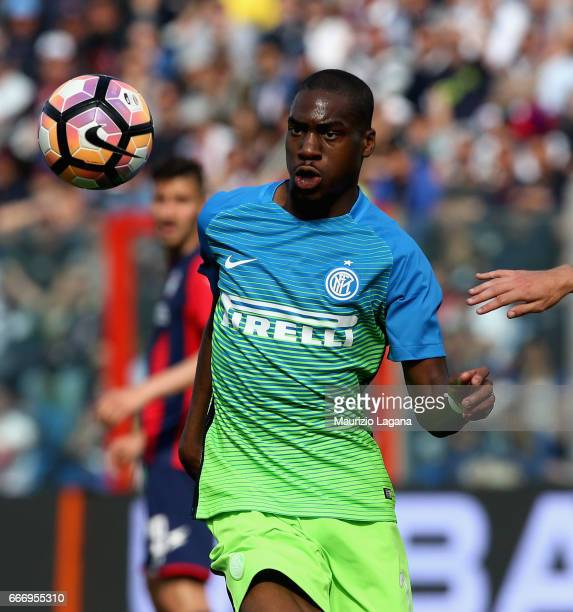 Geoffrey Kondogbia of Inter during the Serie A match between FC Crotone and FC Internazionale at Stadio Comunale Ezio Scida on April 9 2017 in...