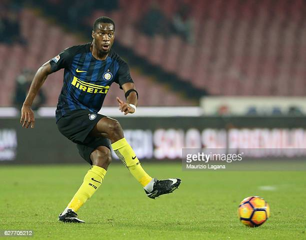 Geoffrey Kondogbia of Inter during the Serie A match between SSC Napoli and FC Internazionale at Stadio San Paolo on December 2 2016 in Naples Italy