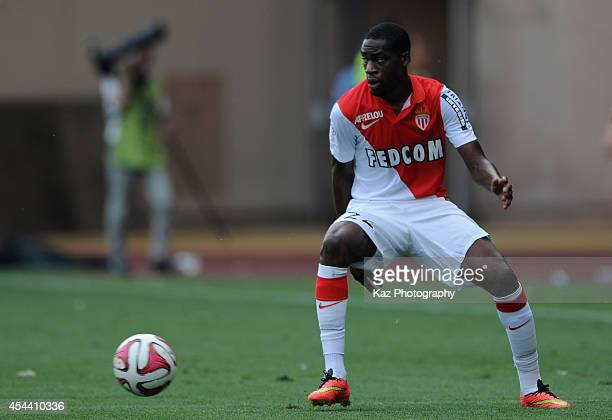 Geoffrey Kondogbia of Monaco in action during the French Ligue 1 match between AS Monaco FC and LOSC Lille at Louis II Stadium on August 30 2014 in...