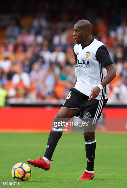 Geoffrey Kondogbia of Valencia CF in action during the La Liga match between Valencia CF and Club Deportivo Leganes at Estadio Mestalla on november 4...