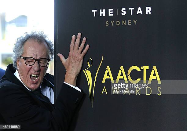 Geoffrey Rush arrives at the 4th AACTA Awards Ceremony at The Star on January 29 2015 in Sydney Australia