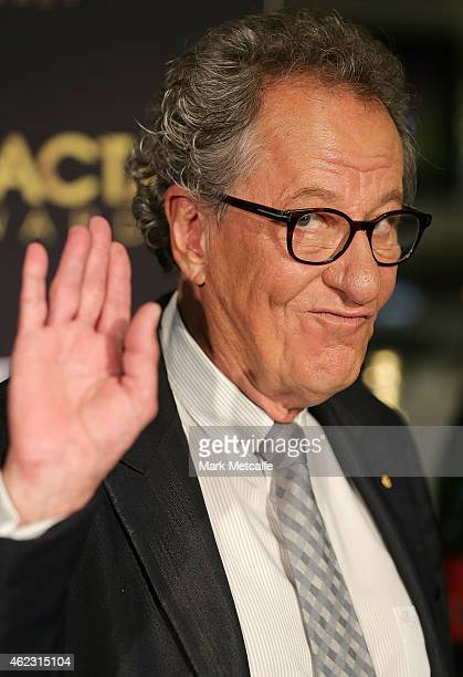 Geoffrey Rush arrives at the 4th AACTA Awards Luncheon at The Star on January 27 2015 in Sydney Australia