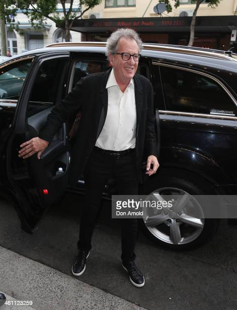 Geoffrey Rush arrives at 'The Book Thief' special screening at Randwick Ritz Cinema on January 7 2014 in Sydney Australia