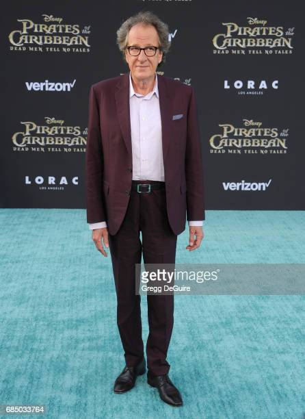 Geoffrey Rush arrives at the premiere of Disney's 'Pirates Of The Caribbean Dead Men Tell No Tales' at Dolby Theatre on May 18 2017 in Hollywood...