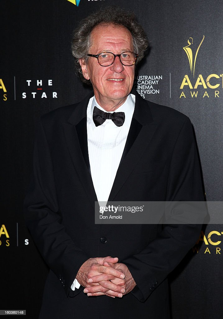 Geoffrey Rush arrives for the 2nd Annual AACTA Awards at The Star on January 30, 2013 in Sydney, Australia.