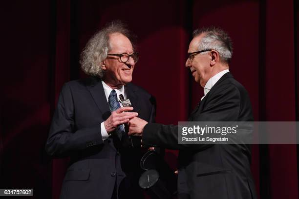 Geoffrey Rush is awarded the Berlinale Camera at the 'Final Portrait' premiere during the 67th Berlinale International Film Festival Berlin at...