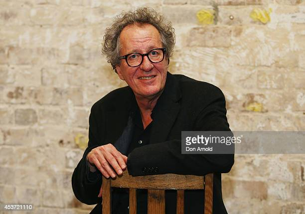 Geoffrey Rush poses at the Belvoir Street Theatre 30th Anniversary at Belvoir Street Theatre on August 17 2014 in Sydney Australia