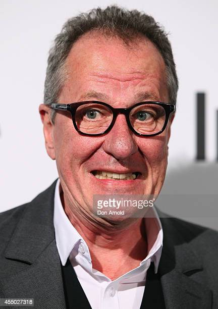 Geoffrey Rush poses during the InStyle and Hugo Boss Men of Style Cocktail Party at Hilton Hotel on September 9 2014 in Sydney Australia