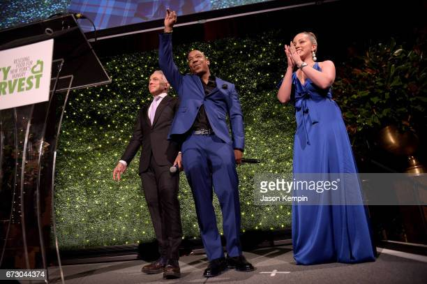 Geoffrey Zakarian Ja Rule and Marcela Valladolid speak onstage at City Harvest's 23rd Annual Evening Of Practical Magic at Cipriani 42nd Street on...