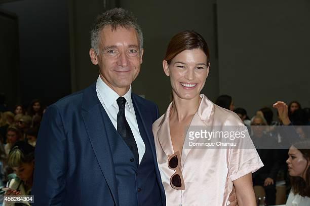 Geoffroy de La Bourdonnaye and Hanneli Mustaparta attend the Chloe show as part of the Paris Fashion Week Womenswear Spring/Summer 2015 on September...