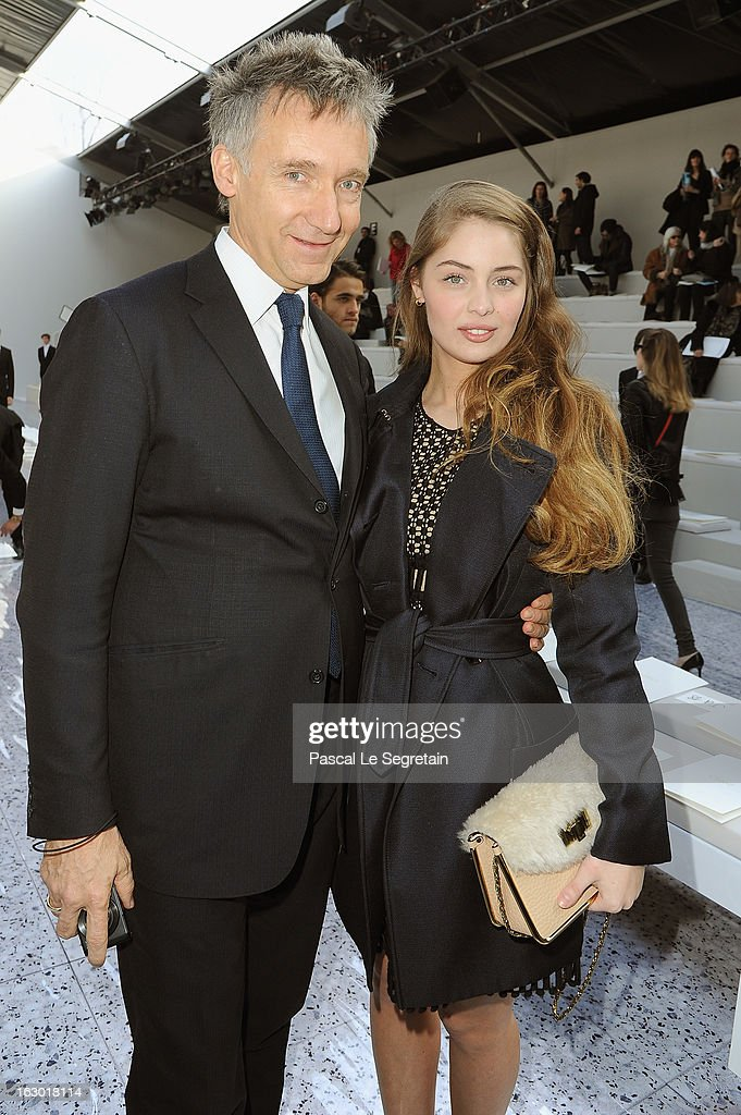 Geoffroy de la Bourdonnaye (L) and Marie-Ange Casta attend the Chloe Fall/Winter 2013 Ready-to-Wear show as part of Paris Fashion Week on March 3, 2013 in Paris, France.