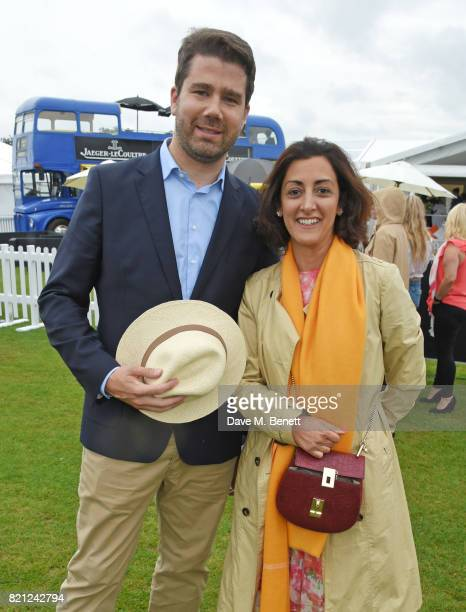 Geoffroy Lefebvre and Zahra KassimLakha attend the JaegerLeCoultre Gold Cup Polo Final at Cowdray Park on July 23 2017 in Midhurst England