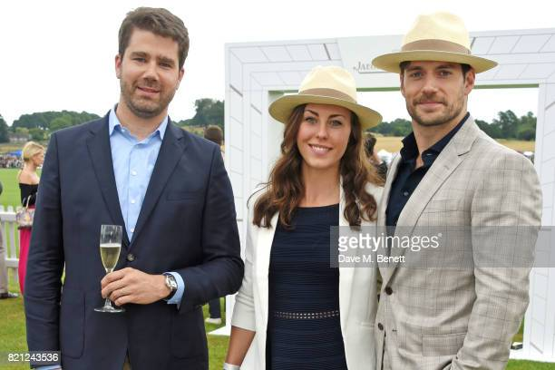 Geoffroy Lefebvre Lucy Cork and Henry Cavill attend the JaegerLeCoultre Gold Cup Polo Final at Cowdray Park on July 23 2017 in Midhurst England