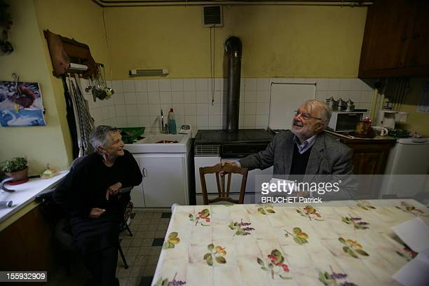 Geoges Vieilledent, the Last Country Doctor with a patient during his last home visit on October 31, 2012 in Saugues, France.