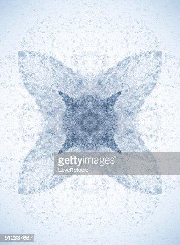 A geometric pattern of a water