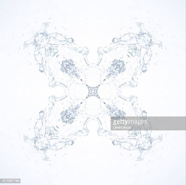 A geometric pattern of a water
