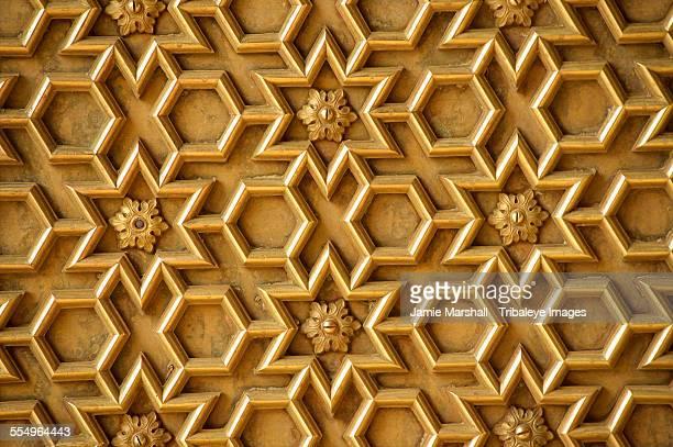 Geometric patterning on door, Jaipur, India