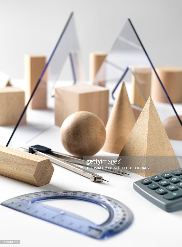 Geometric Shapes and Geometry Set