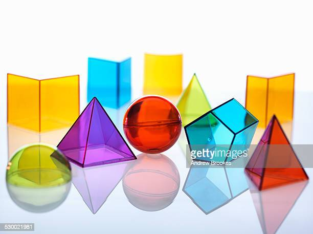 Geometric shapes used in maths and calculus education