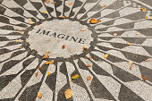 Geometric tile pattern with imagine in center