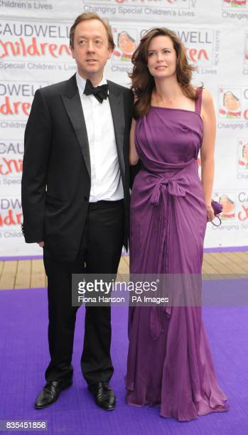 Geordie Greig and wife Kathryn arrive for the Butterfly Ball in Battersea Park London The event by Caudwell Children aims to raise funds for disabled...