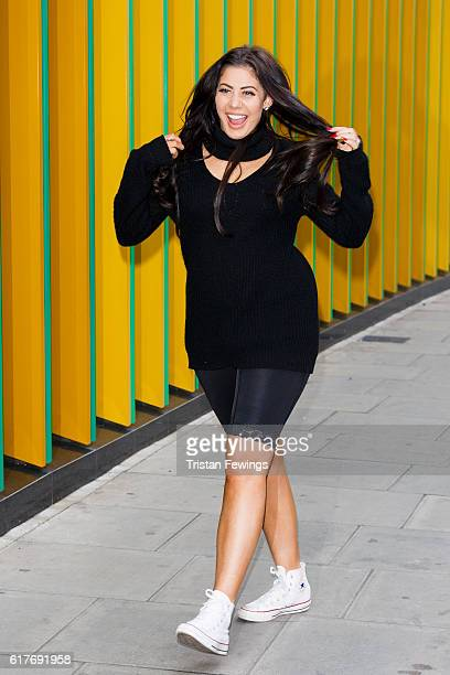 Geordie Shore cast member Marnie Simpson attends the launch of Series 13 at MTV London on October 24 2016 in London England