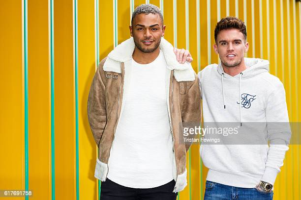 Geordie Shore cast members Nathan Henry and Gary Beadle launch Series 13 at MTV London on October 24 2016 in London England