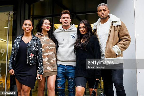 Geordie Shore cast members Sophie Kasaei Chloe Ferry Nathan Henry Marnie Simpson and Gary Beadle launch Series 13 at MTV London on October 24 2016 in...