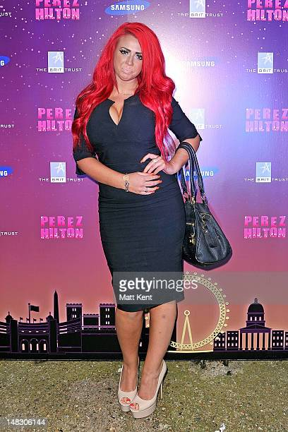 Geordie Shore's Holly Hagan attends Perez Hilton's One Night In London at the Electric Brixton on July 13 2012 in London United Kingdom