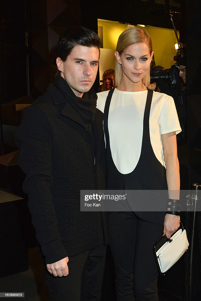 Geordon Nicol (L) and Leigh Lezark from the Misshapes attend the opening of the Karl Lagerfeld concept store during Paris Fashion Week Fall/Winter 2013 at Karl Lagerfeld Concept Store Saint Germain on February 28, 2013 in Paris, France.