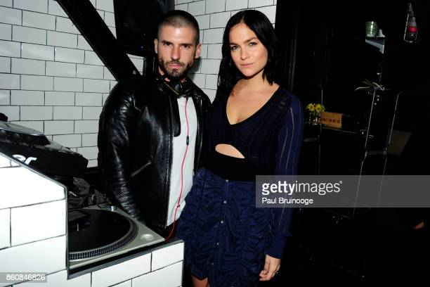 Geordon Nicol and Leigh Lezark of The Misshapes attend Espolòn Tequila Hosts Celebration in Partnership with Ai Weiwei Exodus Exhibit at Hotel...