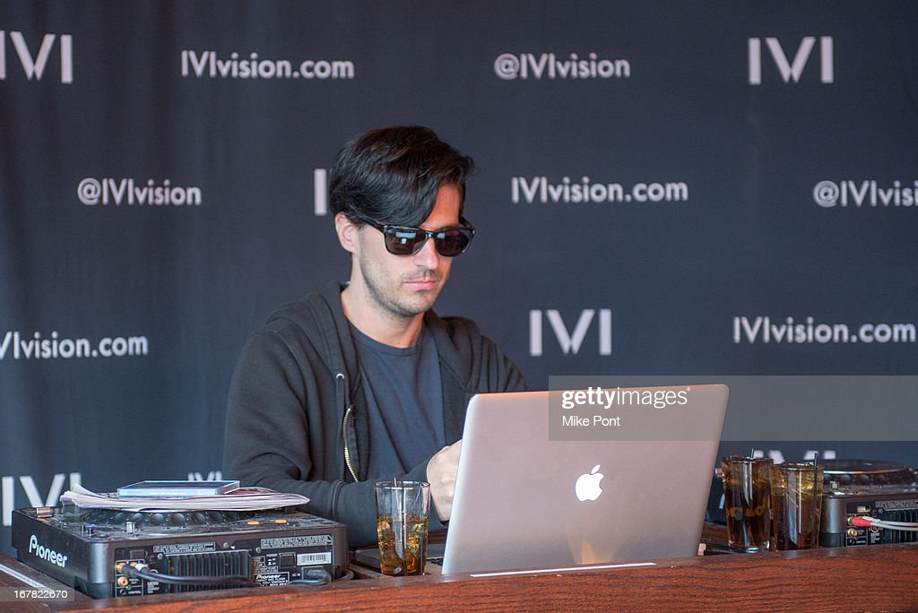 DJ Geordon Nicol attends the IVI Launch Party at The Bowery Hotel on April 30, 2013 in New York City.