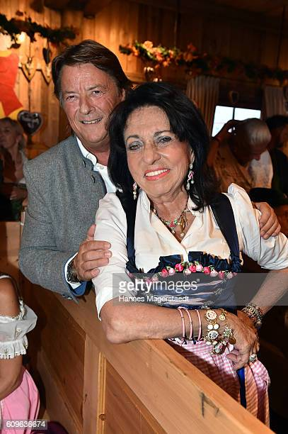 Georg Dingler and Regine Sixt during the Radio Gong 963 Wiesn during the Oktoberfest 2016 on September 21 2016 in Munich Germany