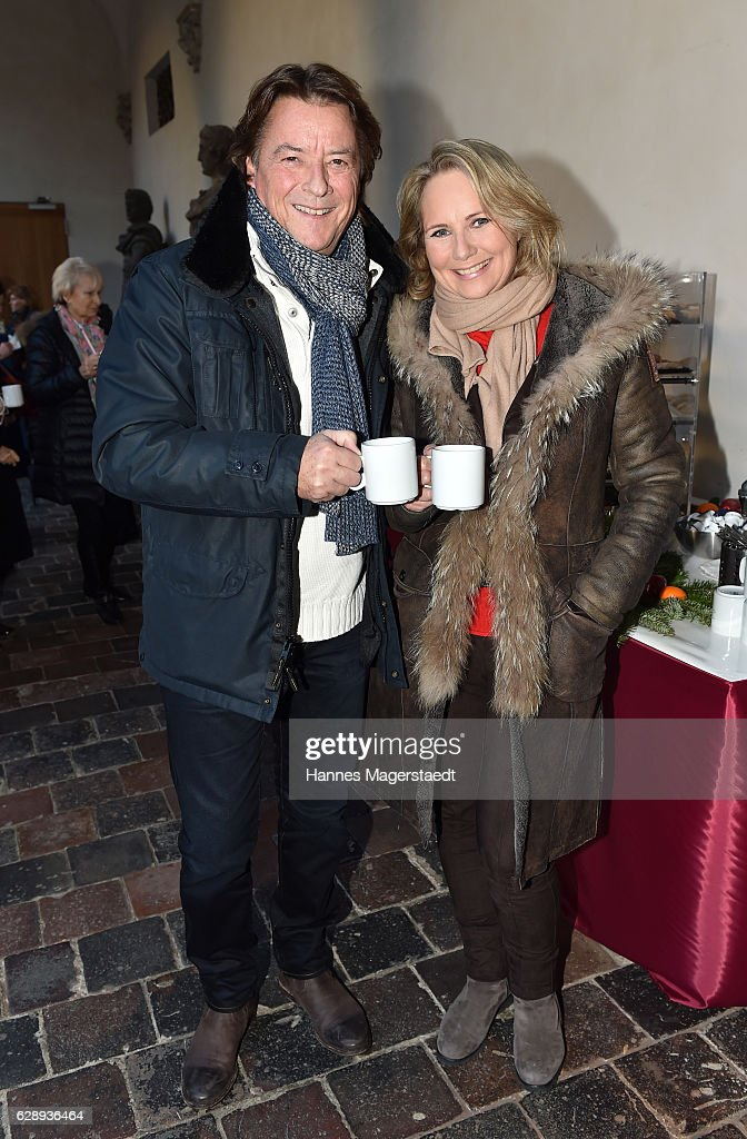 Georg Dingler, Radio Gong Muenchen, and his wife Martina Dingler attend the 21th BMW advent charity concert at Jesuitenkirche St. Michael on December 10, 2016 in Munich, Germany.