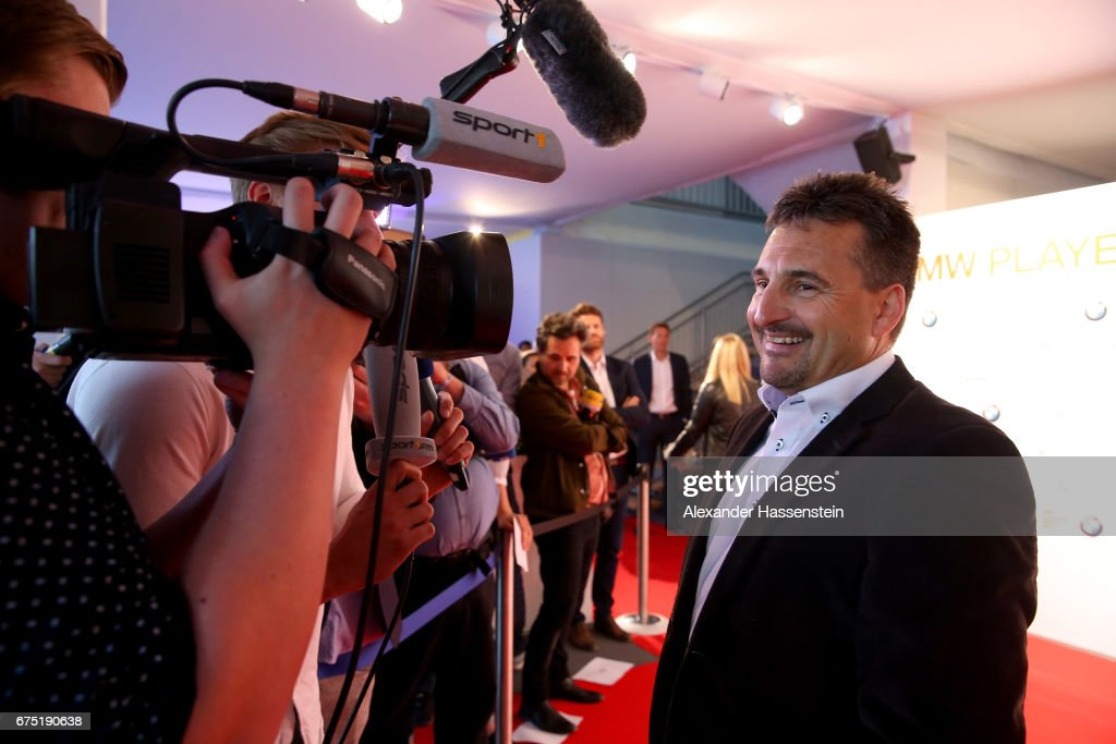 Georg Hackl arrives at the Players Night of the 102. BMW Open by FWU at Iphitos tennis club on April 30, 2017 in Munich, Germany.